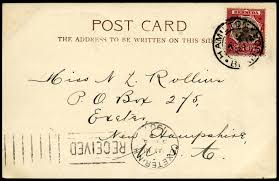 address postcard