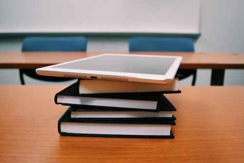 books classroom college desk